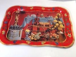 "Coca-Cola Fall Harvest Tray Vintage 1960's Metal 18.75""x 13.5""  - $9.49"