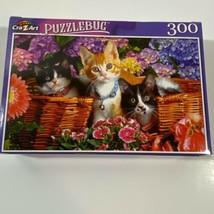 CRA Z ART PUZZLEBUG - CUTIE KITTEN BASKET - 300 PIECES - $11.25