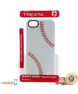 Trexta 100% Leather Baseball Snap on Case, iPhone 5 5s, REAL stitching - $19.99