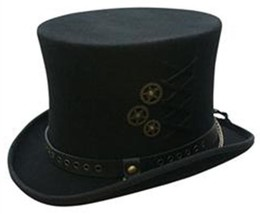 NEW Conner Hats STEAM PUNK Australian Wool Satin Lined MAD HATTER TOP HA... - €77,85 EUR