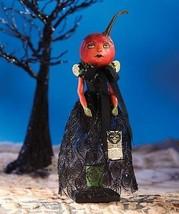 Halloween Pumpkin  Fairy with Black Dress Paper Mache Large ,3'' x 13''. - €44,10 EUR