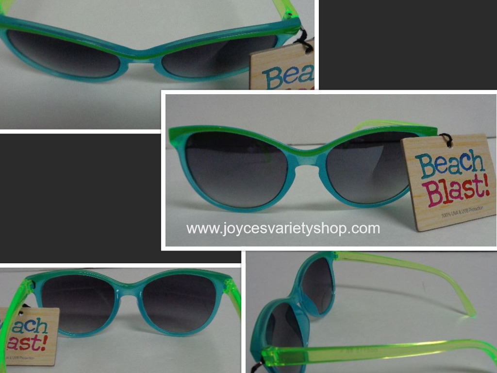 Primary image for Foster Grant Beach Blast Sunglasses NWT 100% UVA UVB Protection Blue & Green