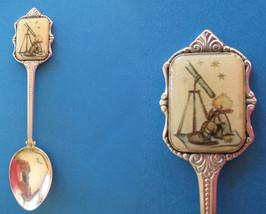 HUMMEL KID Souvenir Collector Spoon 1984 CHILDREN TELESCOPE Collectible  - $7.95