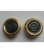 Vintage JOAN RIVERS Gold-tone Lion Crest Clip-on Earrings - $65.00