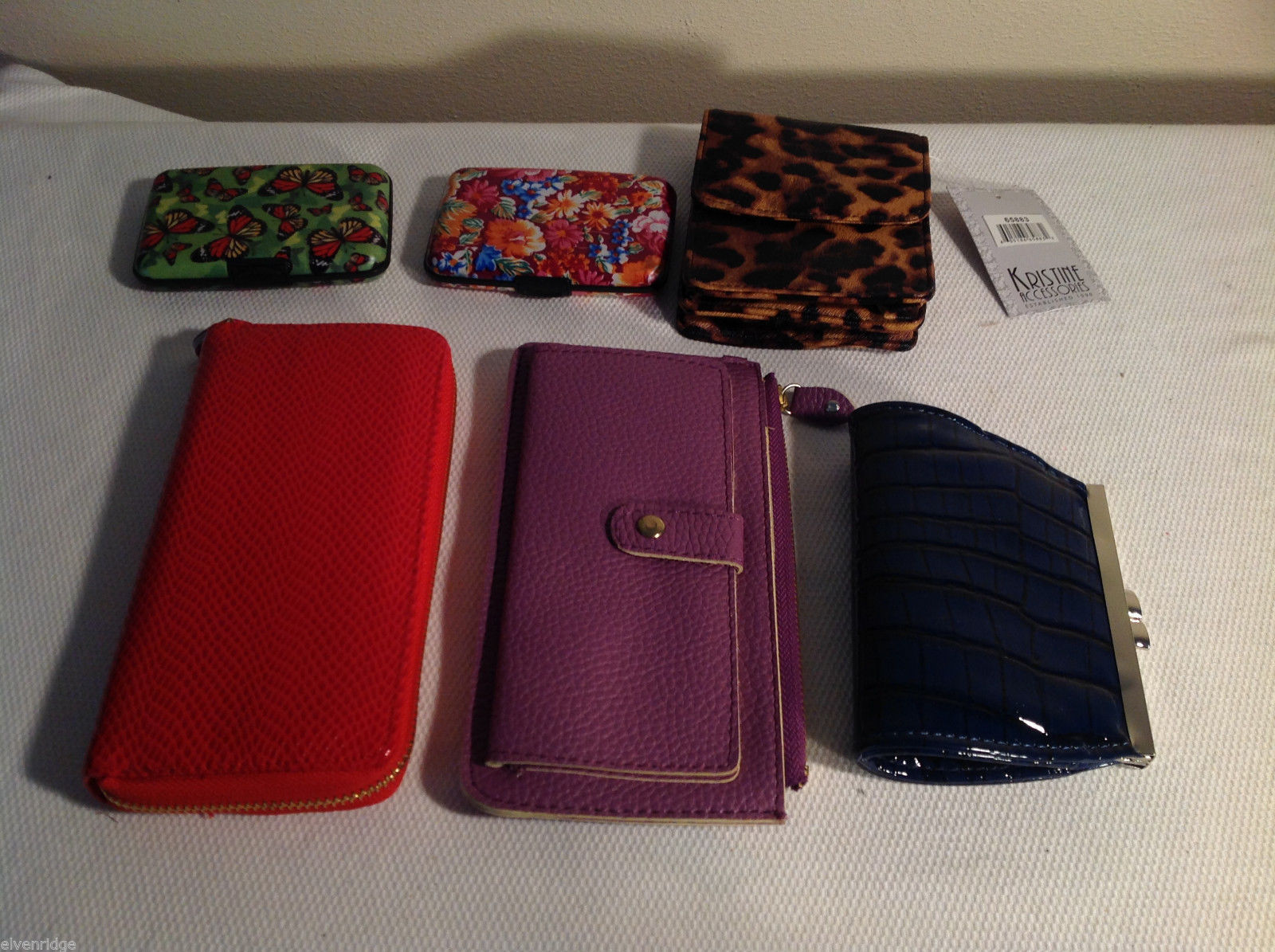 6pc Kristine womens accessories lot wallets purses business card holder NEW