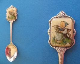 HUMMEL CHILDREN Souvenir Collector Spoon 1984 Collectible CHILD GIRL LAMB - $7.95