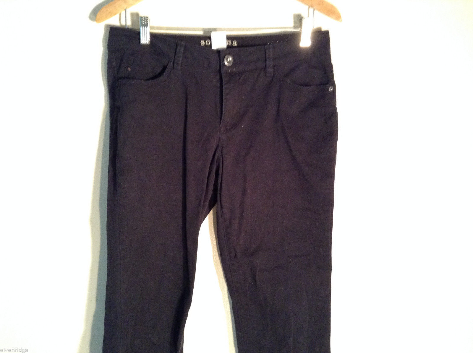 Sonoma Lifestyle Womens Black Original Straight Leg Size 10P Jeans Pants