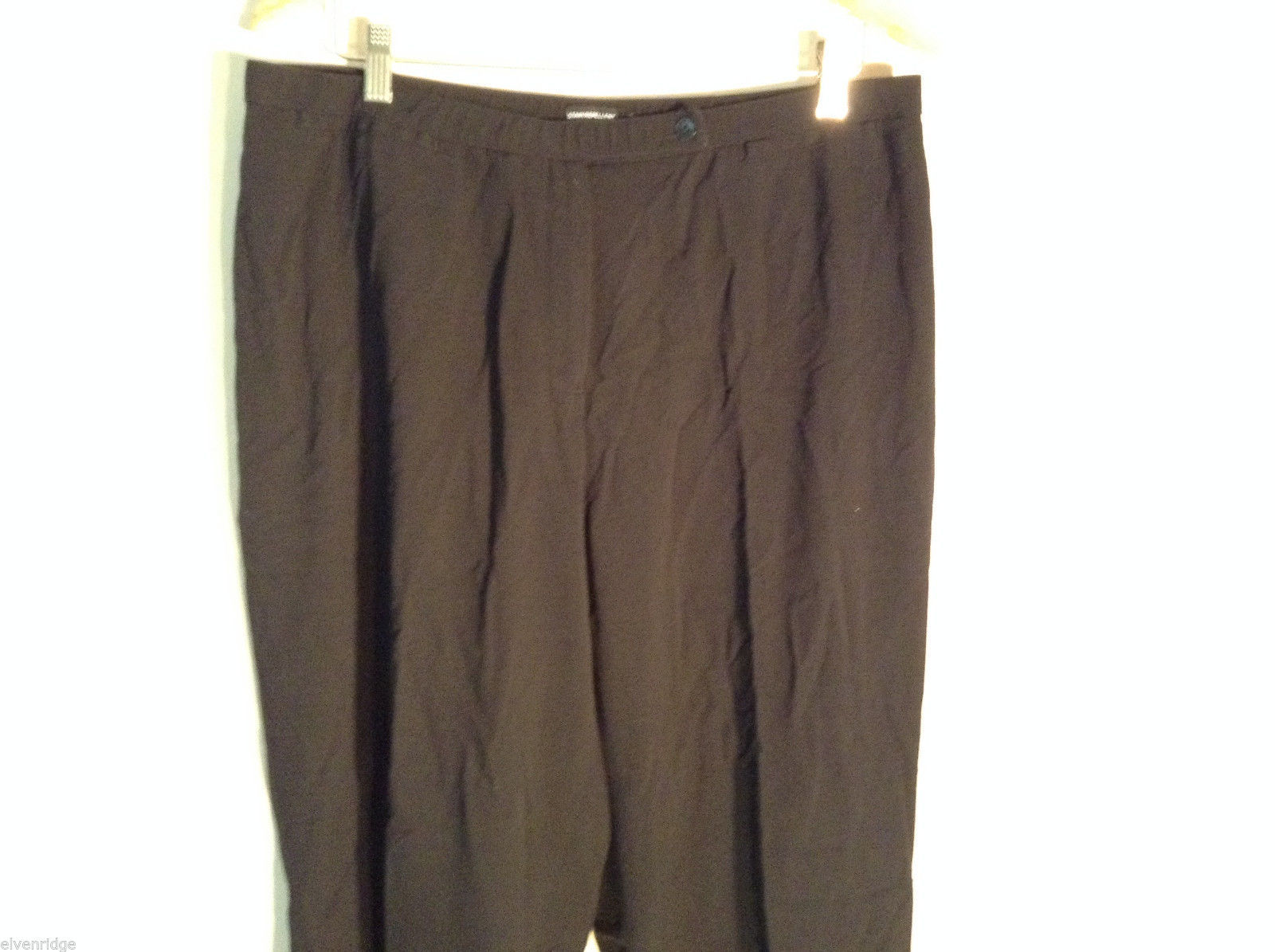 Womens Black Focus 2000 Dress Pants Size 18 Stain Repellant