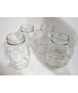 Quart Canning Fruit Jars 1970s, Obear Nester, Longlife Mason, Atlas Mason, set 4 - $7.99