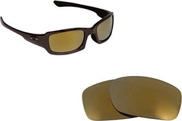 New Seek Replacement Lenses Oakley Fives Squared   Polarized Gold Mirror - $18.77