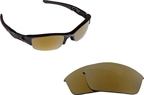 Primary image for New SEEK Replacement Lenses Oakley FLAK JACKET XLJ Asian Fit - Polarized Gold...