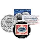 INVERTED JENNY 1918 STAMP Colorized JFK Half Dollar US Coin Upside Down ... - $168,58 MXN