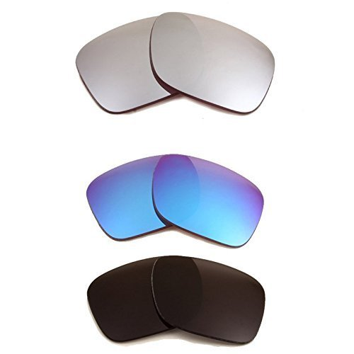 Primary image for New SEEK Replacement Lenses Oakley HOLBROOK Polarized Black Blue Black