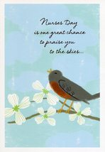 """(1) One Greeting Card Nurses Day """"Nurses Day Is One Great Chance to Prai... - $1.50"""
