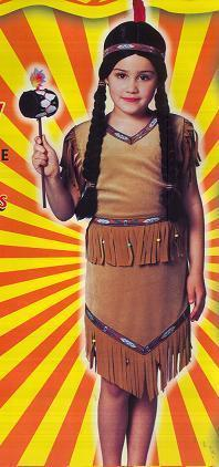 Native American Indian Girl SM 4/6 Childs Costume