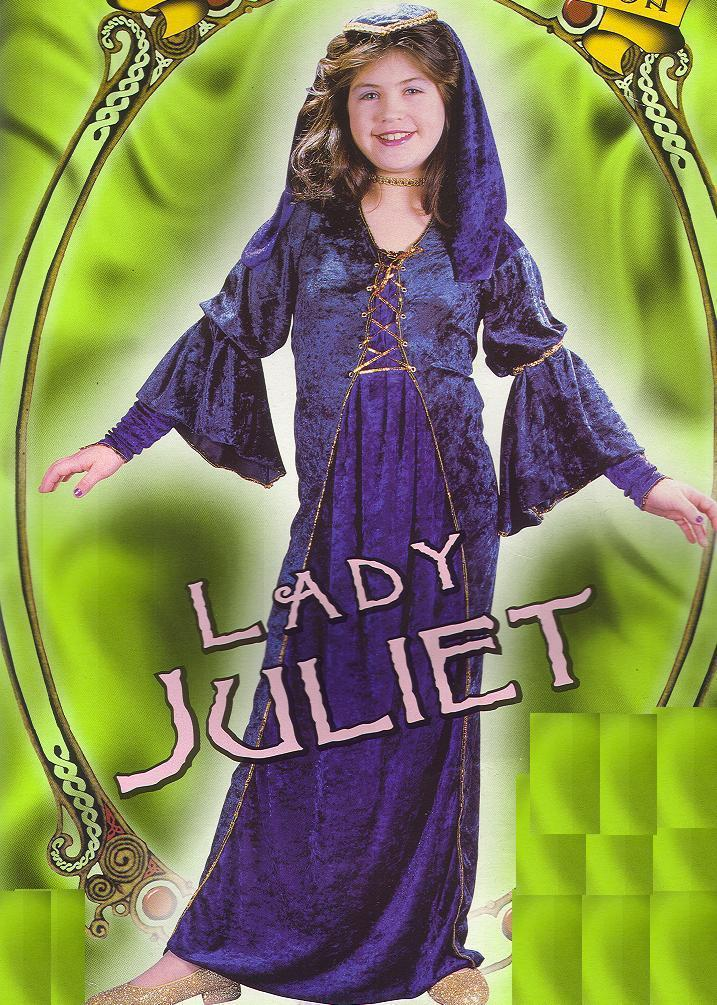 Medieval VELVET Lady Juliet 4/6 Child Costume