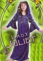 Medieval VELVET Lady Juliet 4/6 Child Costume - $32.00