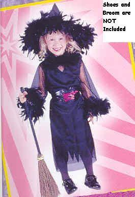 MARIBOU FEATHER WITCH 2T childs costume