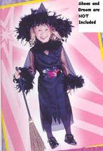 MARIBOU FEATHER WITCH 2T childs costume - $20.00