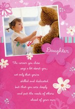 "(1) One Greeting Card Nurses Day - Daughter ""The career you chose says a... - $2.99"