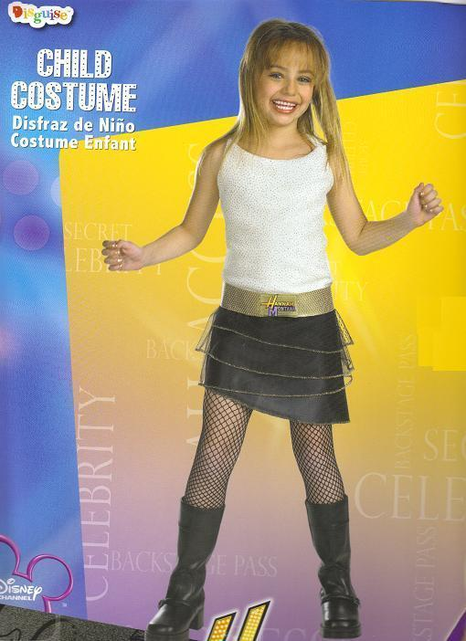 HANNAH MONTANA COSTUME large 10 to 12 GIRL'S SIZE