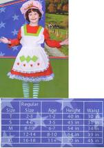 STRAWBERRY THEME COSTUME with HAT SZ GIRL'S LG 12/14 - $35.00