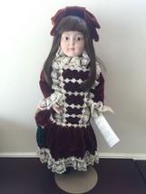 Franklin Heirloom Dolls Emily Porcelain Doll 19... - $69.78