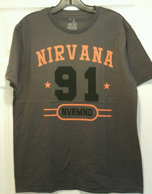 New nirvana 91 nvrmnd adult medium t shirt 1991 nevermind for Adult medium t shirt