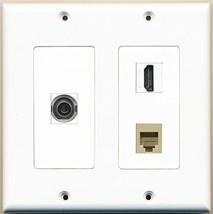 RiteAV  1 Port HDMI 1 Port Phone RJ11 RJ12 Beige 1 Port 3.5mm - 2 Gang Wall ... - $21.49