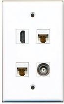 RiteAV  1 Port HDMI 1 Port BNC 2 Port Cat6 Ethernet White Wall Plate - $20.88