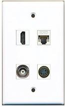RiteAV  1 Port HDMI 1 Port S-Video 1 Port BNC 1 Port Cat5e Ethernet White Wa... - $20.88