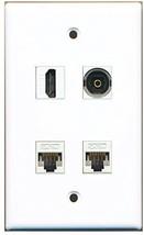 RiteAV  1 Port HDMI 1 Port Toslink 2 Port Cat5e Ethernet White Wall Plate - $20.88