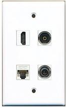 RiteAV  1 Port HDMI 1 Port Toslink 1 Port 3.5mm 1 Port Cat5e Ethernet White ... - $20.88