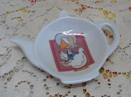Vintage GEORGE GOOD By FABRIZIO Goose Tea Pot Shaped Spoon Rest / Tea Ba... - $9.50