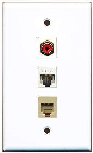 Primary image for RiteAV  1 Port RCA Red - Phone RJ11 RJ12 Beige - Cat5e Eth...