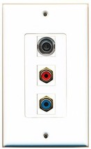RiteAV  1 Port RCA Red - RCA Blue - 3.5mm Decorative  Wall Plat... - $14.34