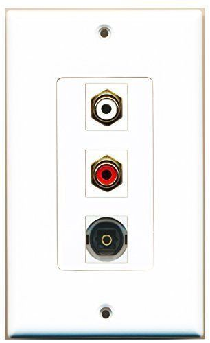 Primary image for RiteAV  1 Port RCA Red - RCA White - Toslink Decorative  Wall P...