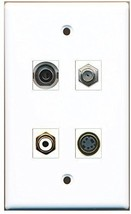 RiteAV  1 Port RCA White 1 Port Coax Cable TV- F-Type 1 Port S-Video 1 Port ... - $20.88