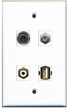 RiteAV  1 Port RCA White 1 Port Coax Cable TV- F-Type 1 Port USB A-A 1 Port ... - $20.88