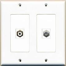 RiteAV  1 Port RCA White 1 Port Coax Cable TV- F-Type - Dual Gang Wall P... - $17.75