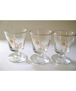 Vintage Drug Store RX  Footed Bourbon Bar Glasses - $20.00