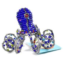 Beady Baubz Handmade Beaded Octopus Sculpture Figurine Made Zimbabwe Africa image 4