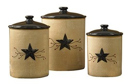 Park Designs Star Vine Canisters Set of 3, Multicolor - $107.62