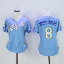 Men's Kansas City Royals 8 Mike Moustakas Baseball Jersey Light Blue Champion  - $64.99