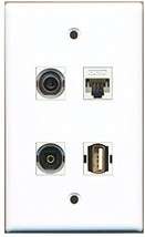 RiteAV  1 Port USB A-A 1 Port Toslink 1 Port 3.5mm 1 Port Cat5e Ethernet Whi... - $20.88