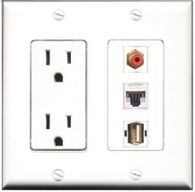 RiteAV  15 Amp Power Outlet 1 Port RCA Red 1 Port USB A-A 1 Port Cat5e E... - $28.04
