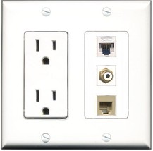 RiteAV  15 Amp Power Outlet 1 Port RCA White 1 Port Phone Beige 1 Port C... - $28.04