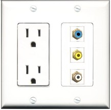 RiteAV  15 Amp Power Outlet 1 Port RCA White 1 Port RCA Yellow 1 Port RC... - $27.76