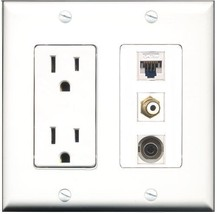 RiteAV  15 Amp Power Outlet 1 Port RCA White 1 Port 3.5mm 1 Port Cat5e E... - $28.04