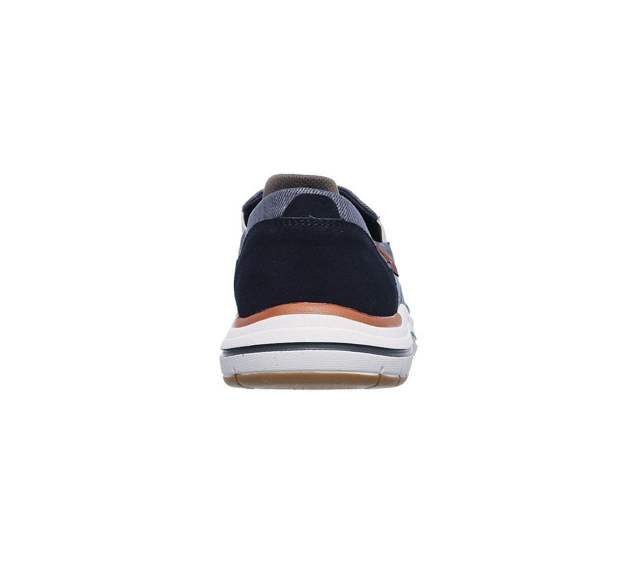 Brown Black Skechers Shoes Wide Fit Men Memory Foam Comfort